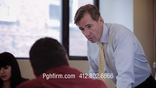 A screenshot from a video about the Flaherty Fardo team
