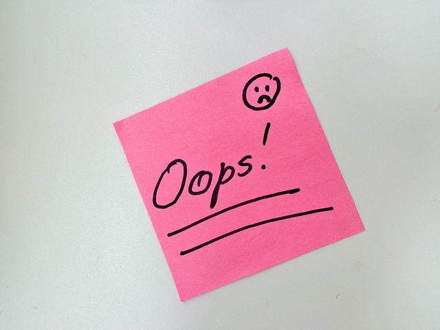opps post it note wrong tax bill