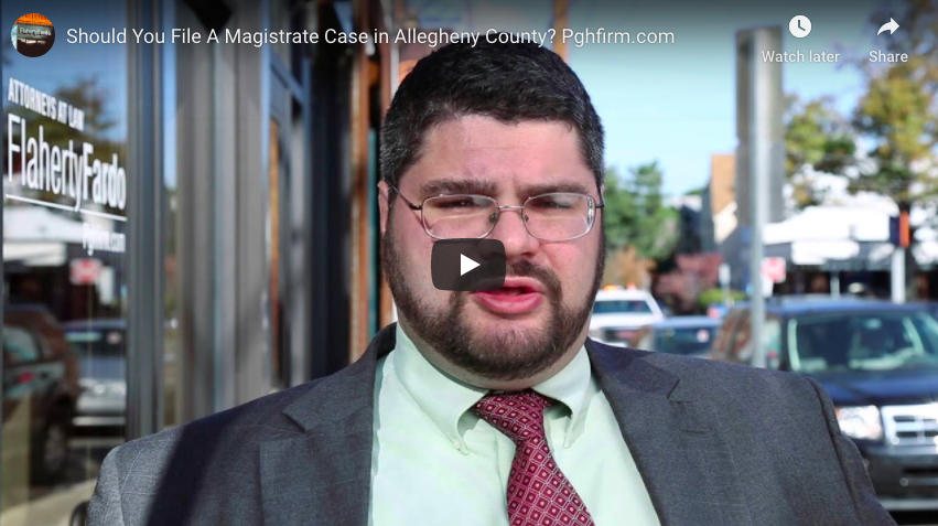 Should You File A Magistrate Case in Allegheny County? Pghfirm.com