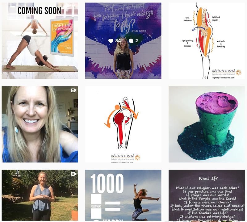 Christine Koth Holistic physical Therapist Instagram
