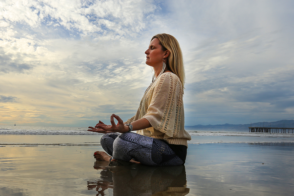 Christine Koth Holistic physical Therapist  Meditating