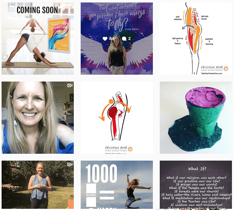 Christine Koth Holistic physical Therapist Instagram