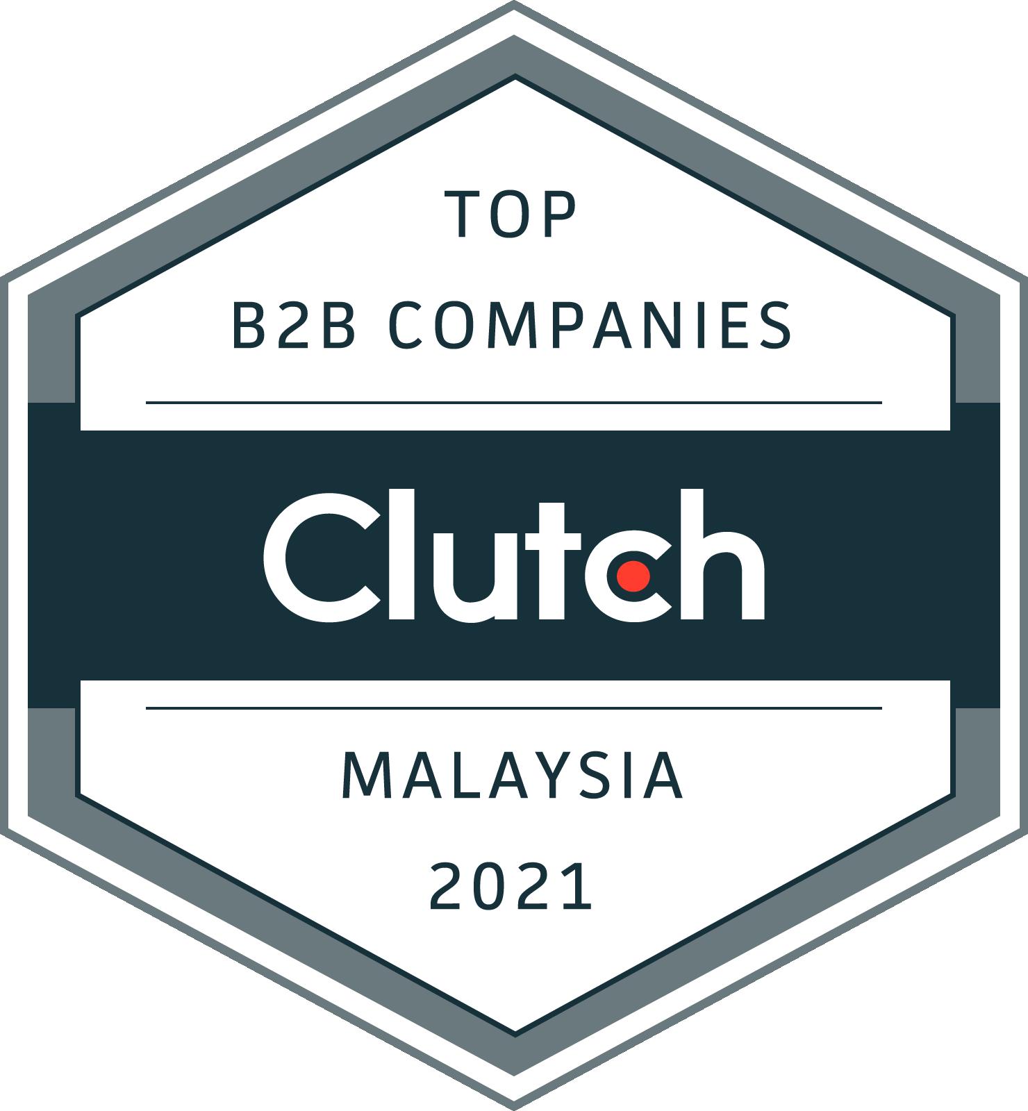 Clutch B2B Companies Badge