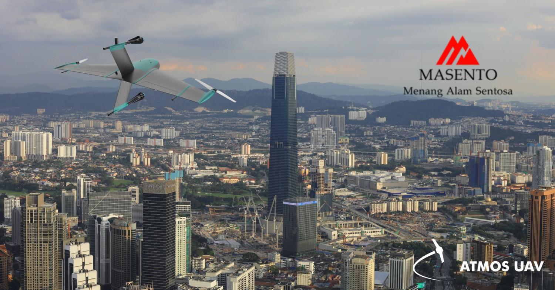 Marlyn VTOL drone flying over Kuala Lumpur