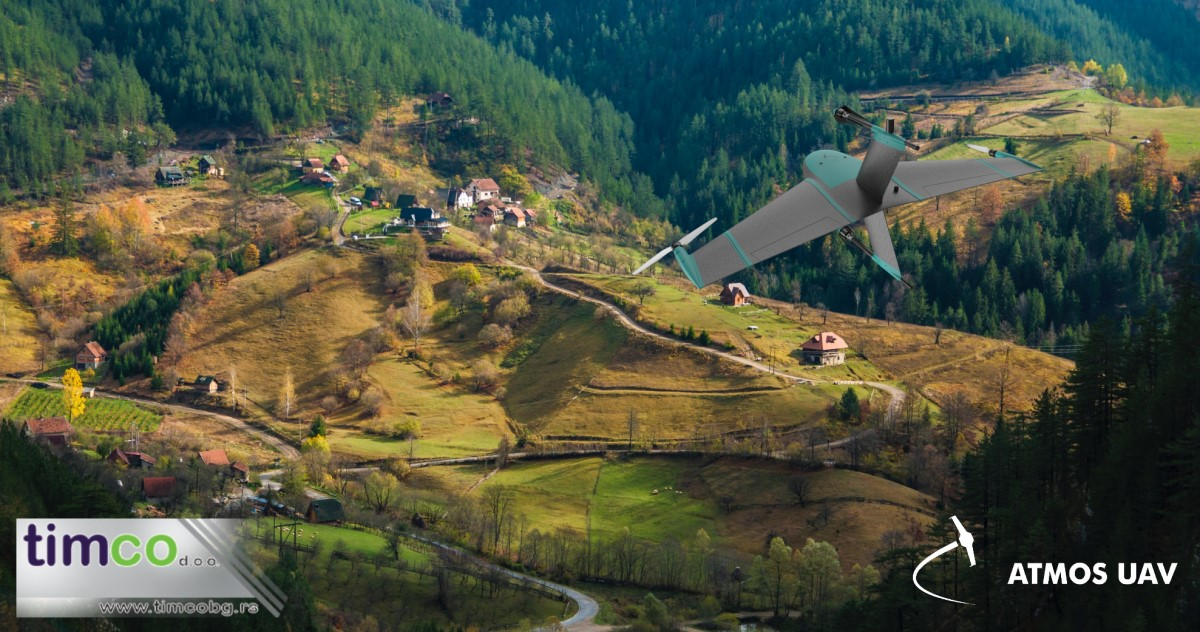 Illustration of a Marlyn Drone flying over Zaovine in Serbia