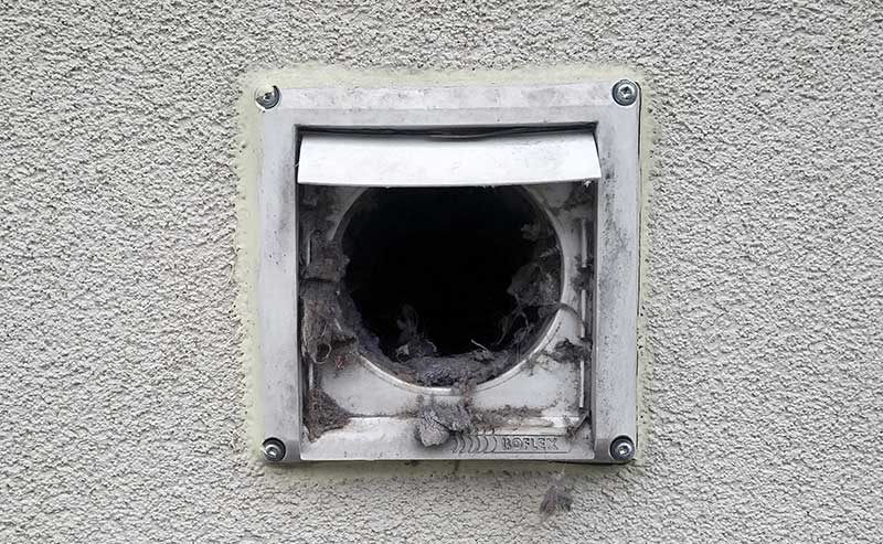 Dirty dryer vent in ottawa