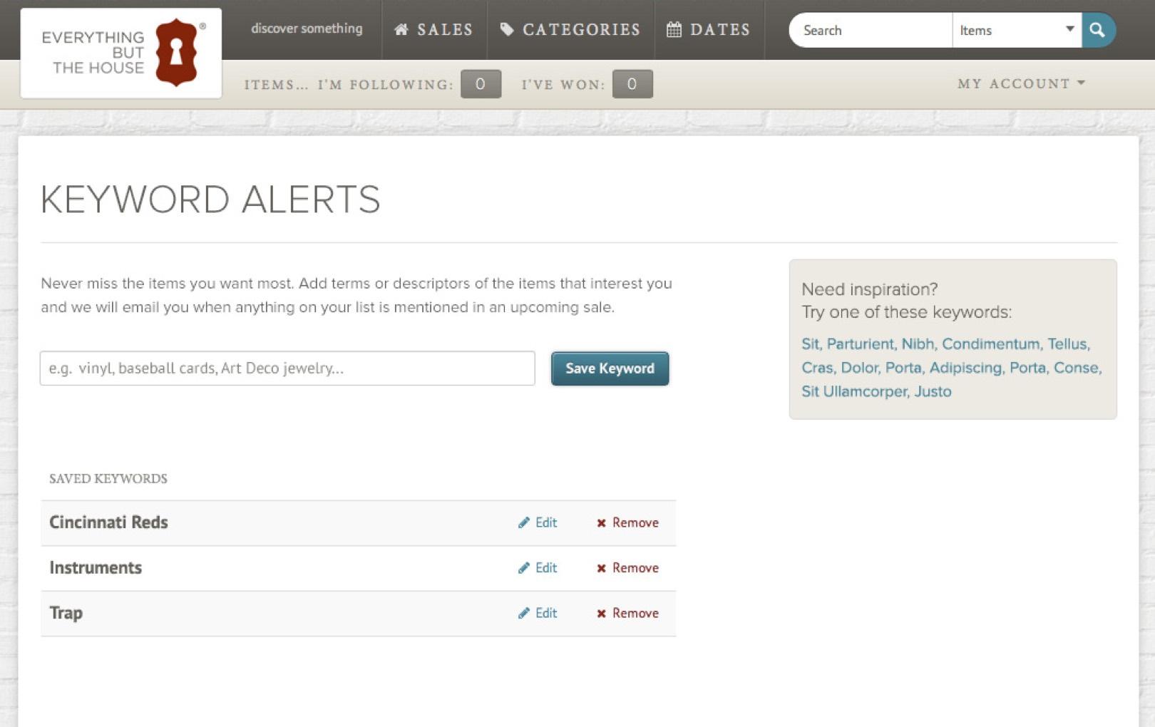 EBTH - UX - Keyword alerts