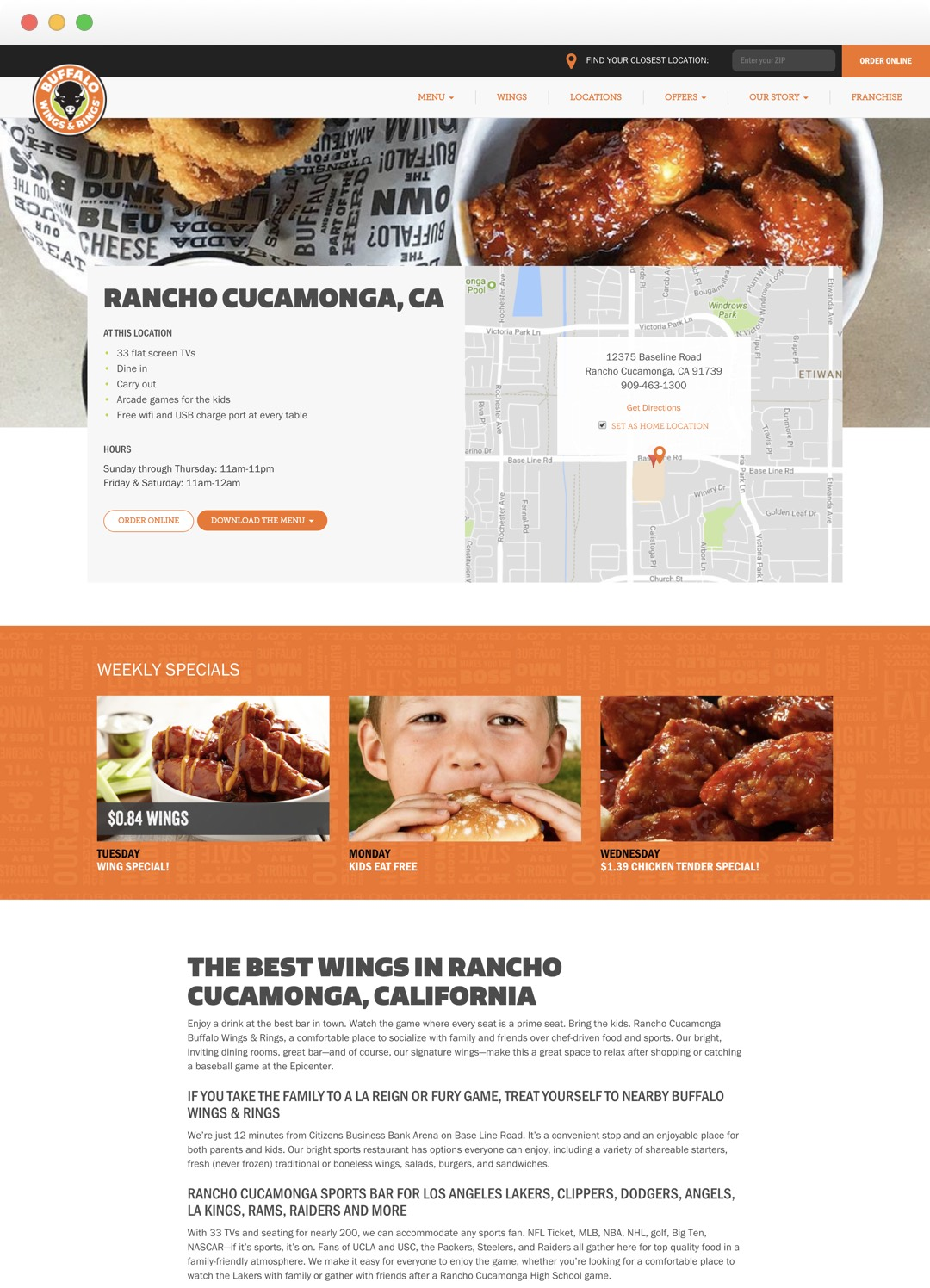 Buffalo Wings & Rings - Location