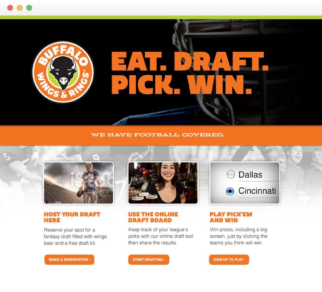 Buffalo Wings & Rings - Fantasy Football - Home page