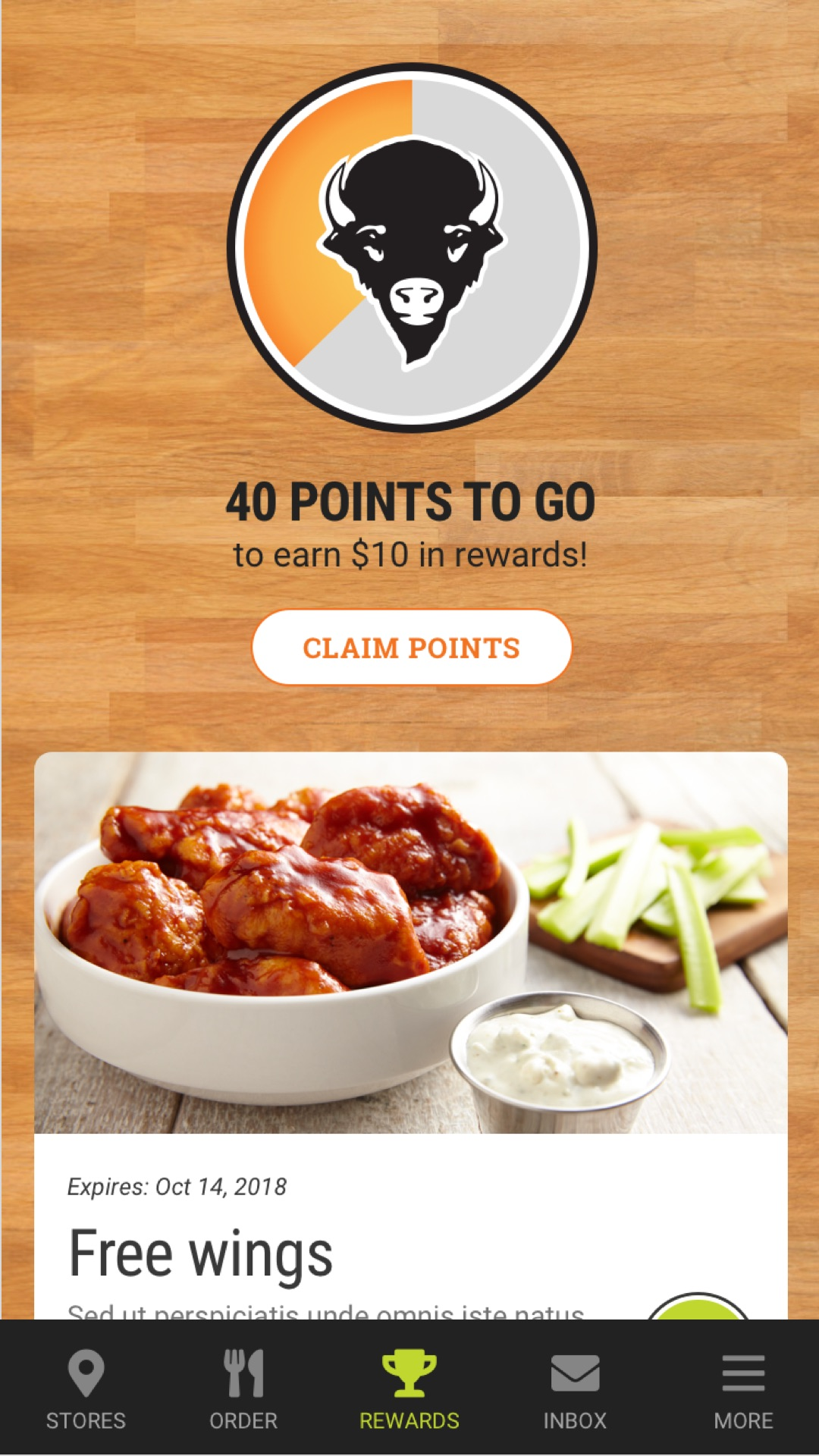 Buffalo Wings & Rings - Promos - Sauce campaign