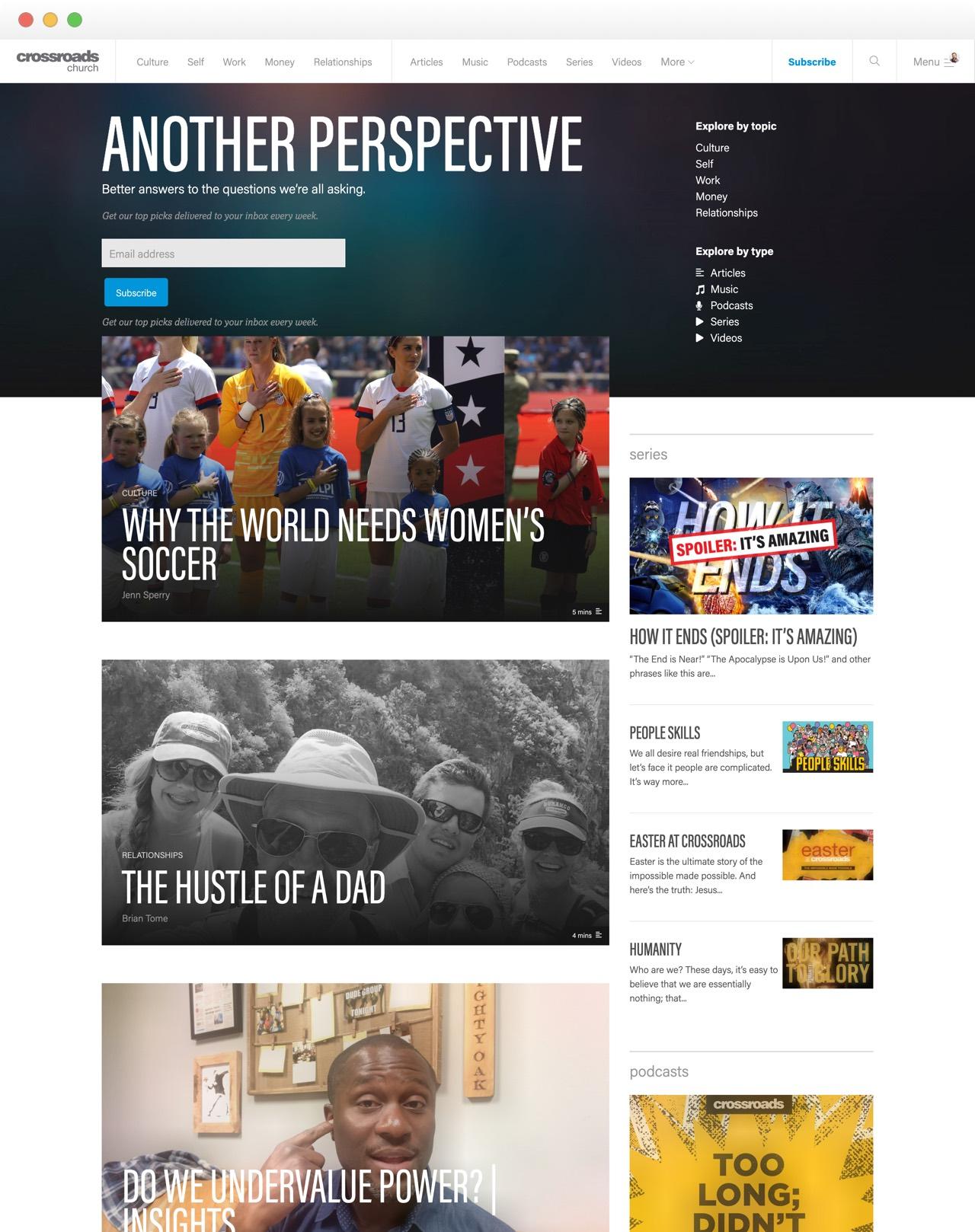 Crossroads Media Landing Page