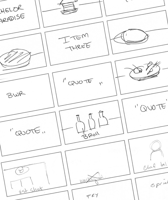 Buffalo Wings & Rings - Video Storyboards