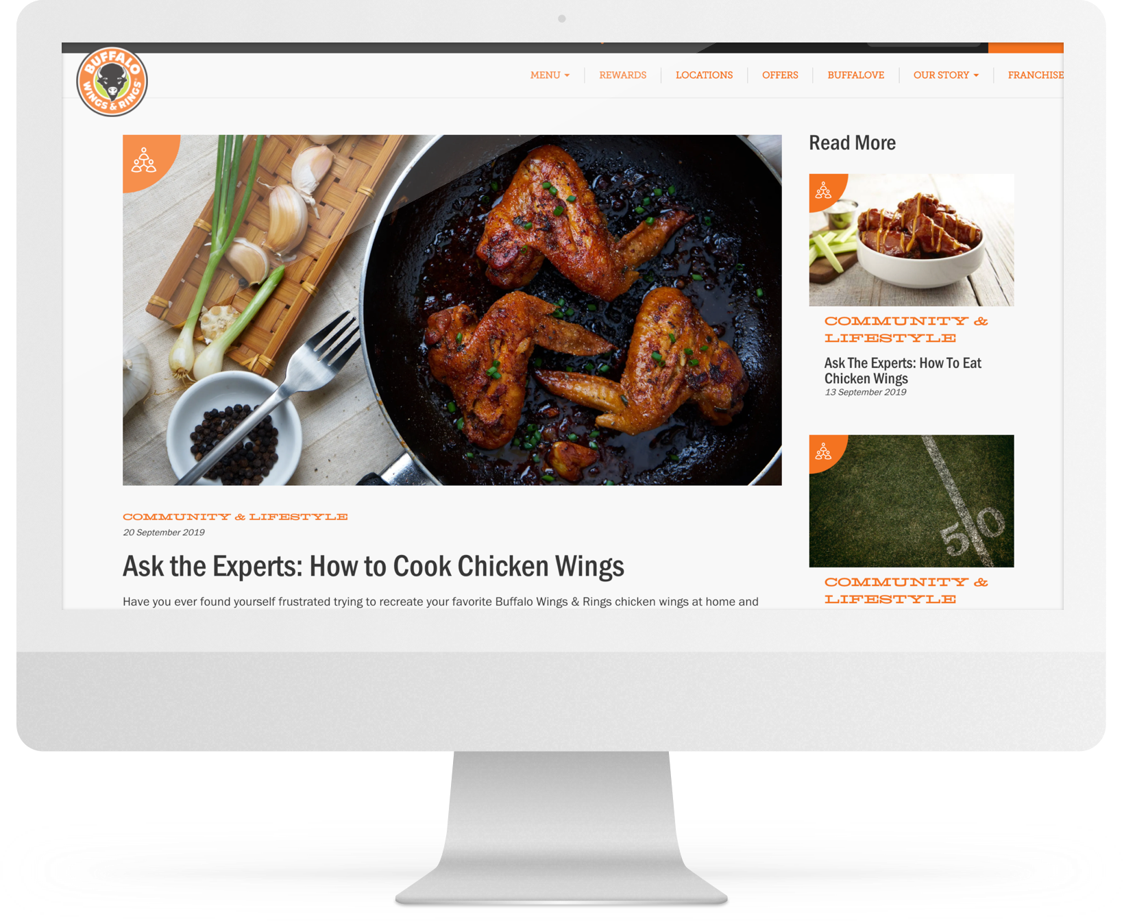 Buffalo Wings & Rings - Fantasy football table tent and website