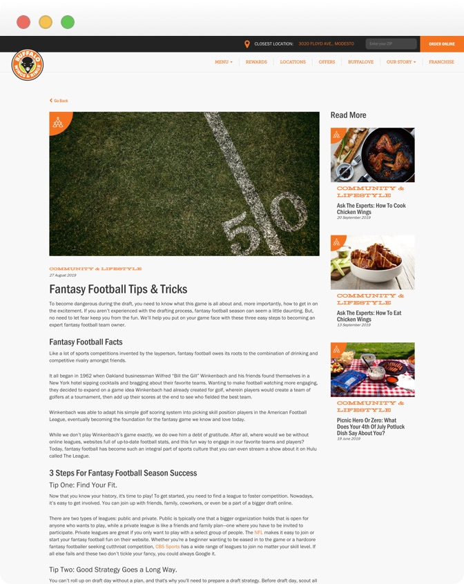Buffalo Wings & Rings - Blog Article