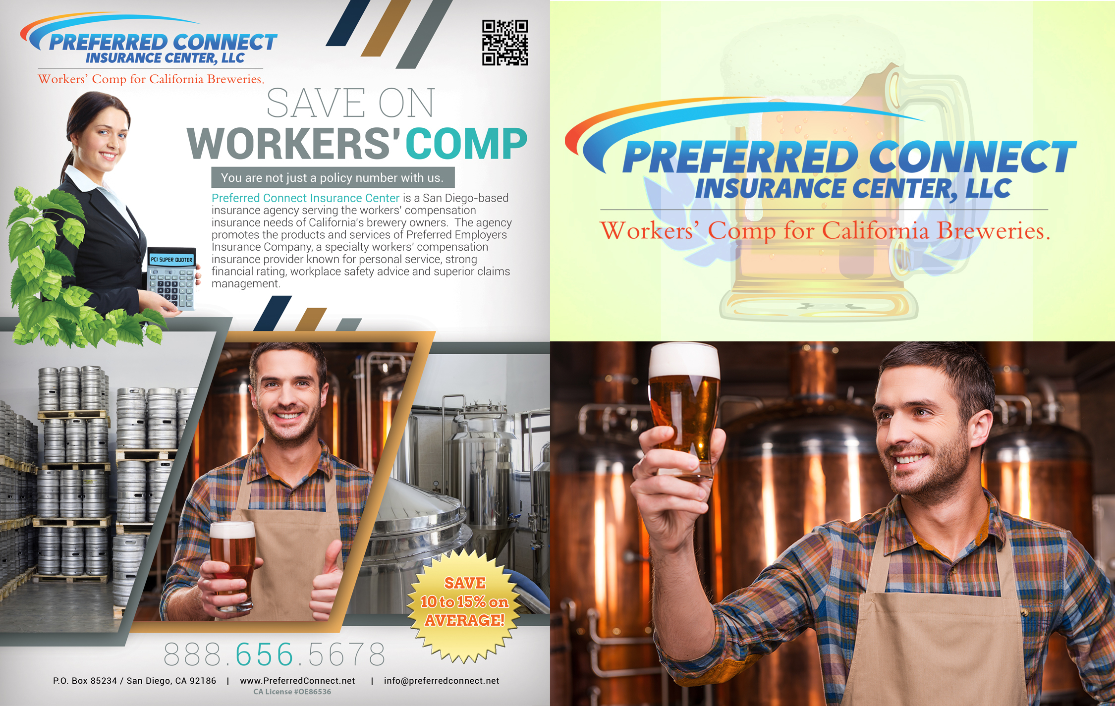 workers comp for breweries flyer