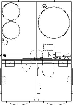 Scanvogn toilethus