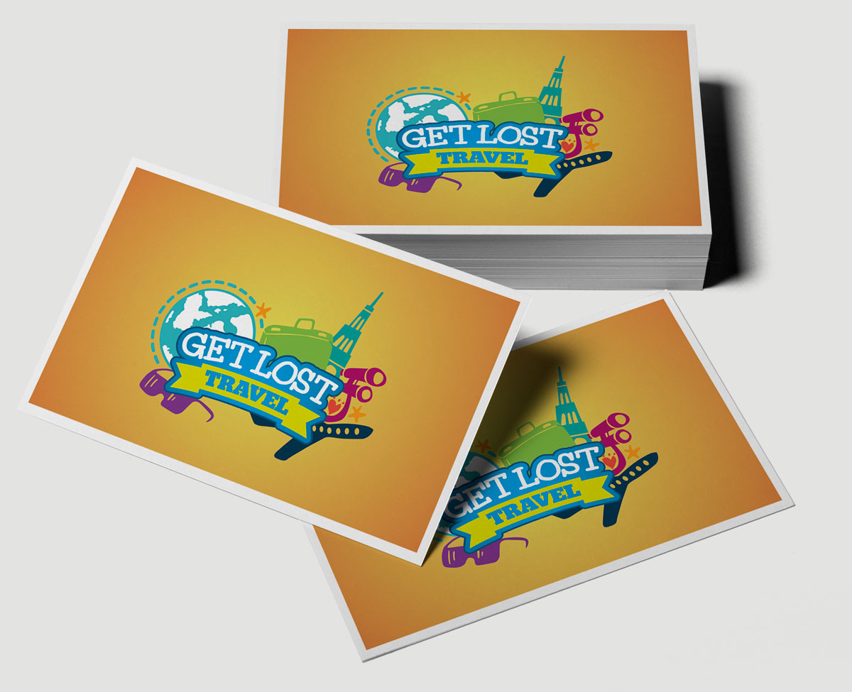 Get Lost Travel Business Cards