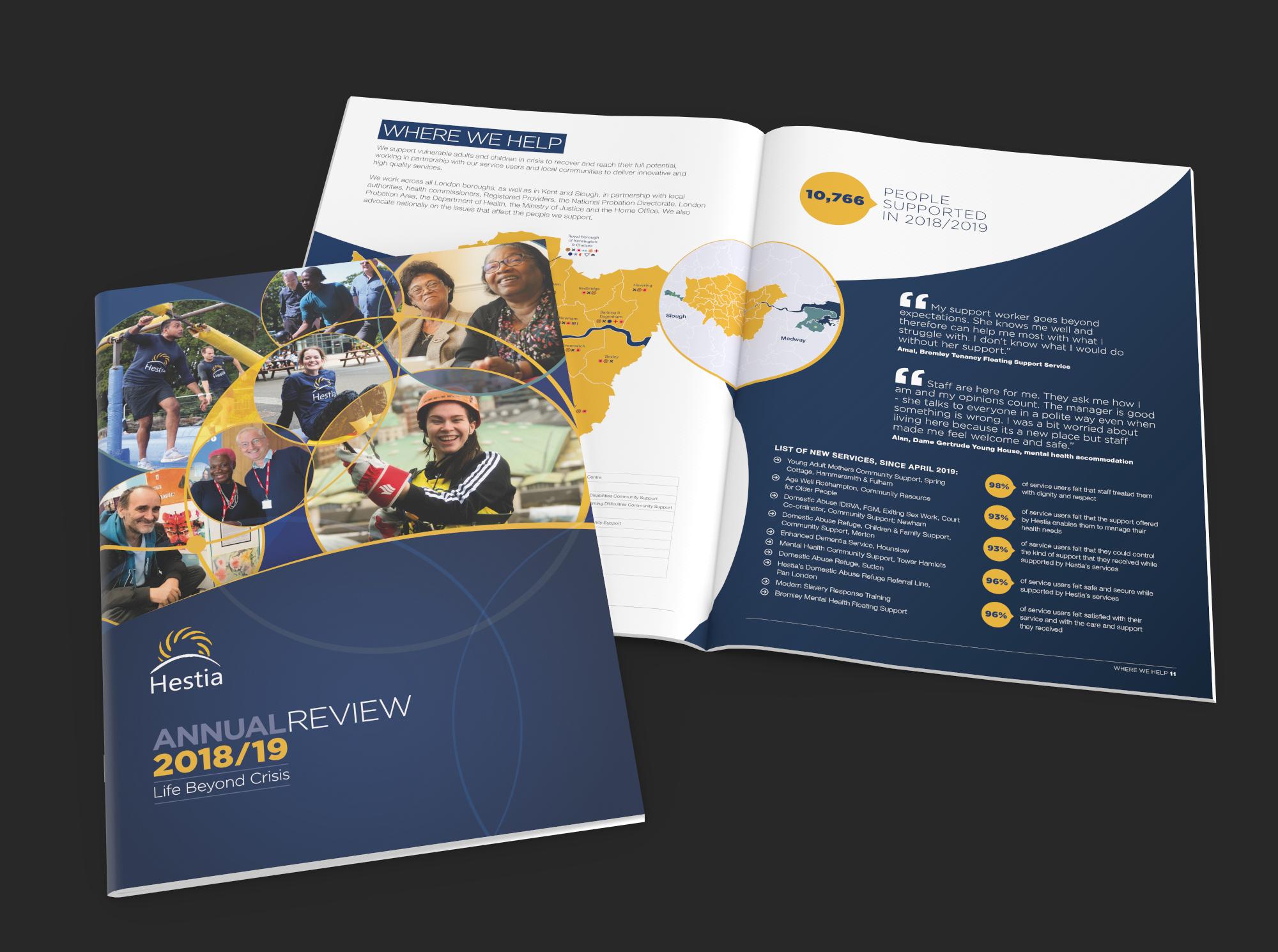 Hestia Annual Review Design