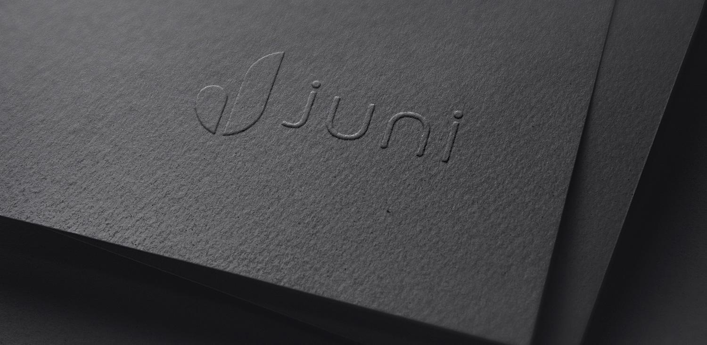 Juni cosmetics logo design