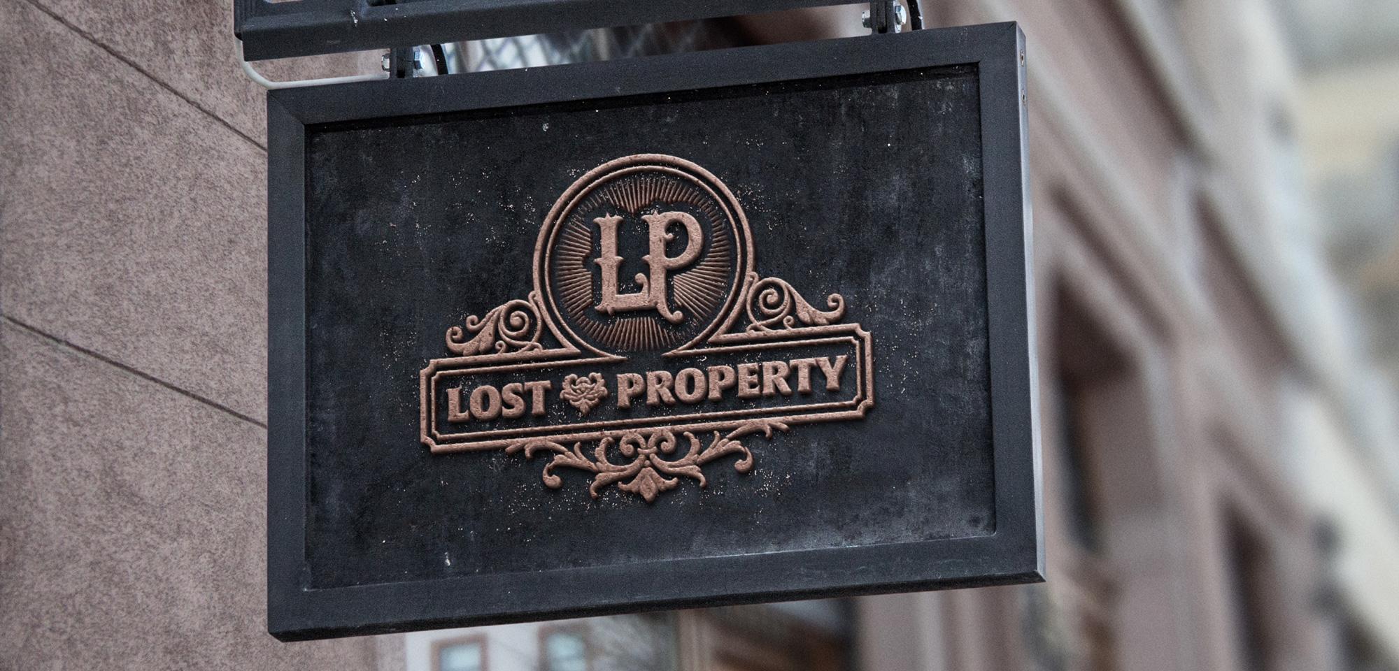 Lost property logo shop sign