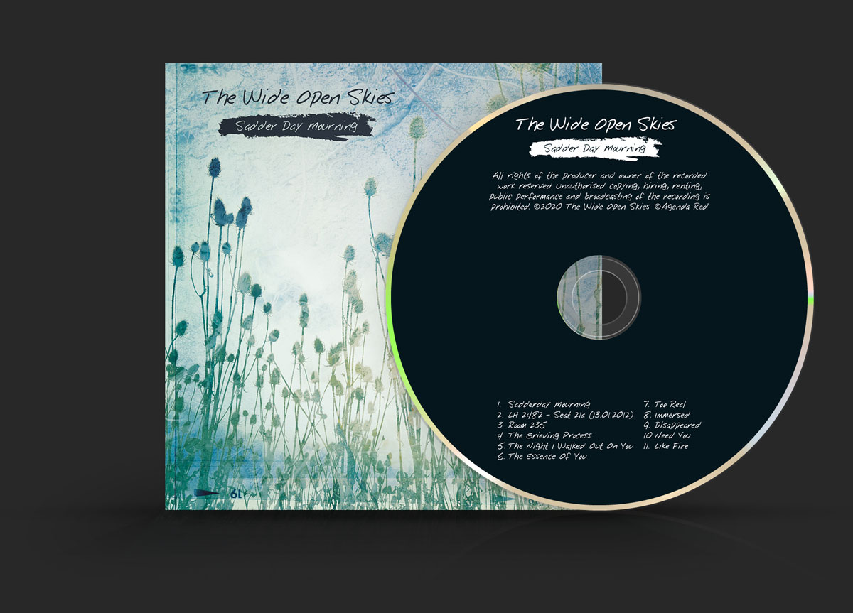 The Wide Open Skies CD album cover design and disc
