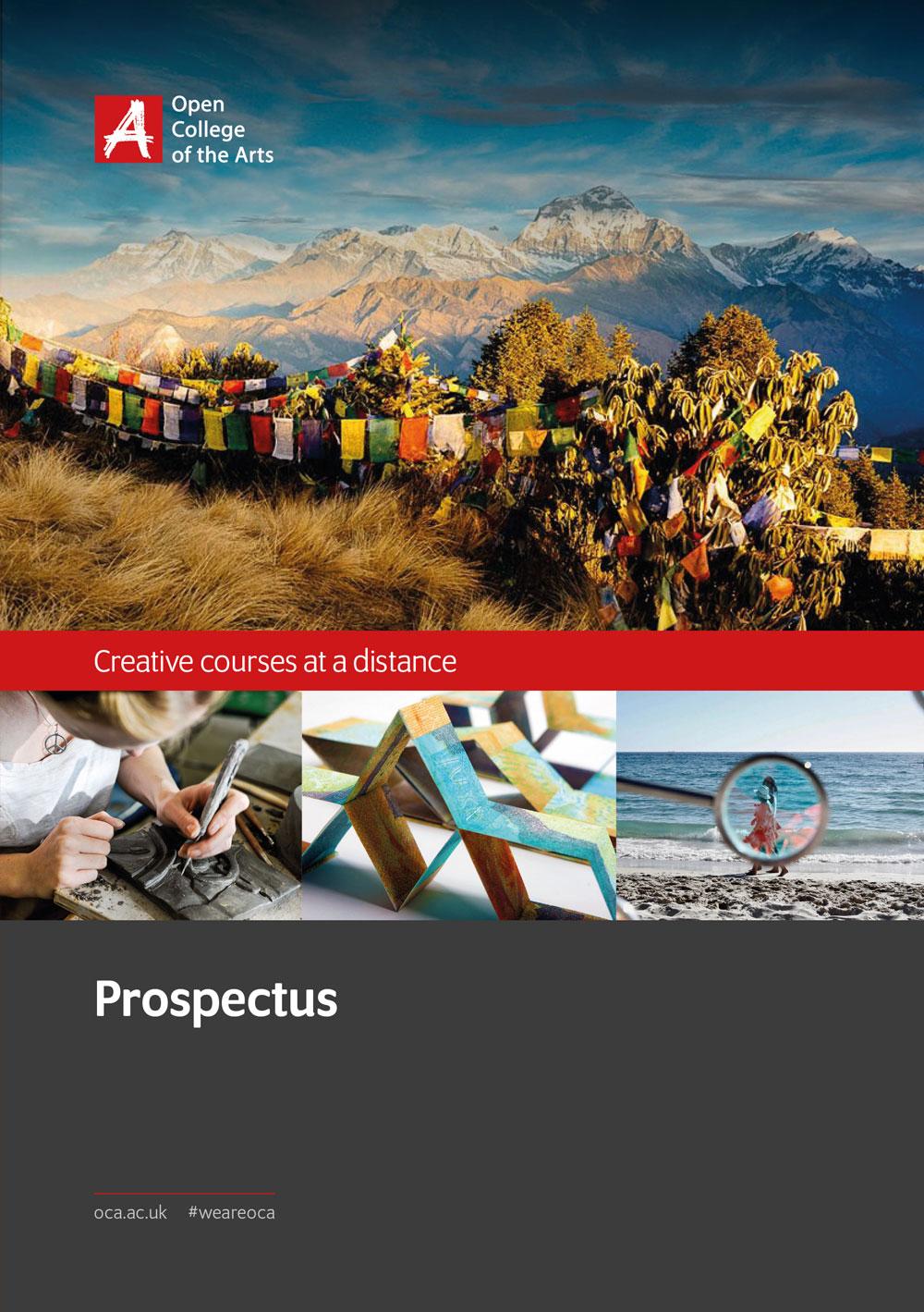Open College of the Arts prospectus cover design