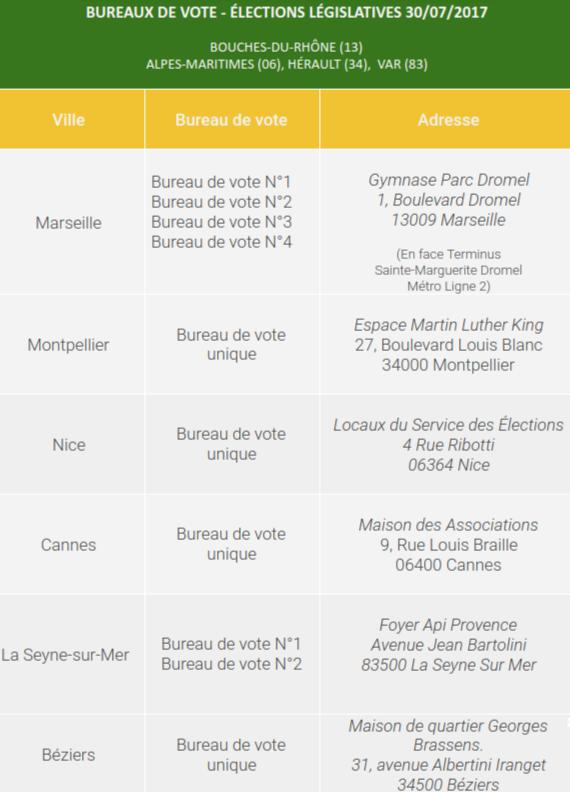Élections Législatives 2017 - Consulat Général du Sénégal à Marseille