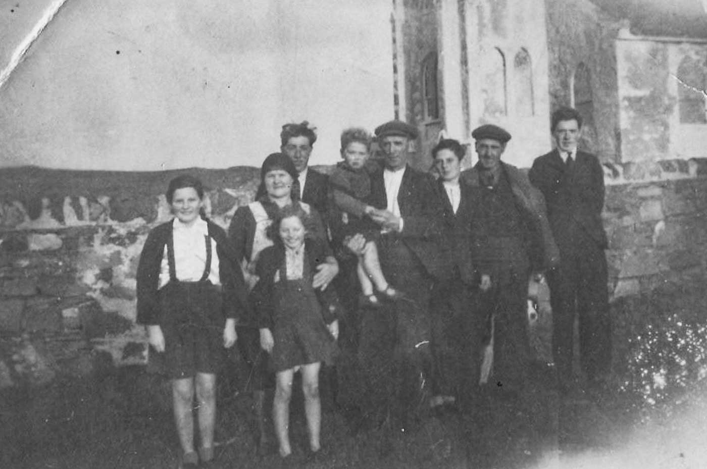 The Baker family at Kilchoman church