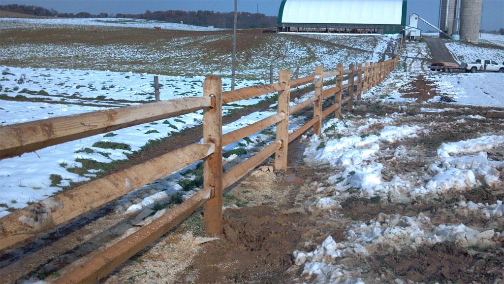 Modern Split Rail Fence