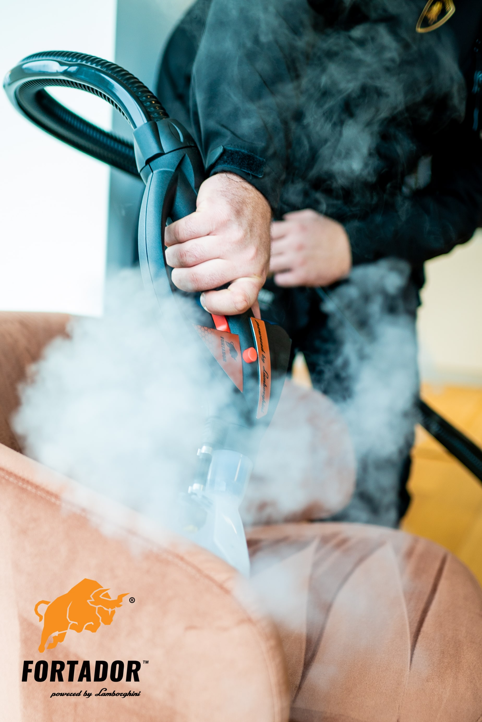 steaming of furniture for cleaning