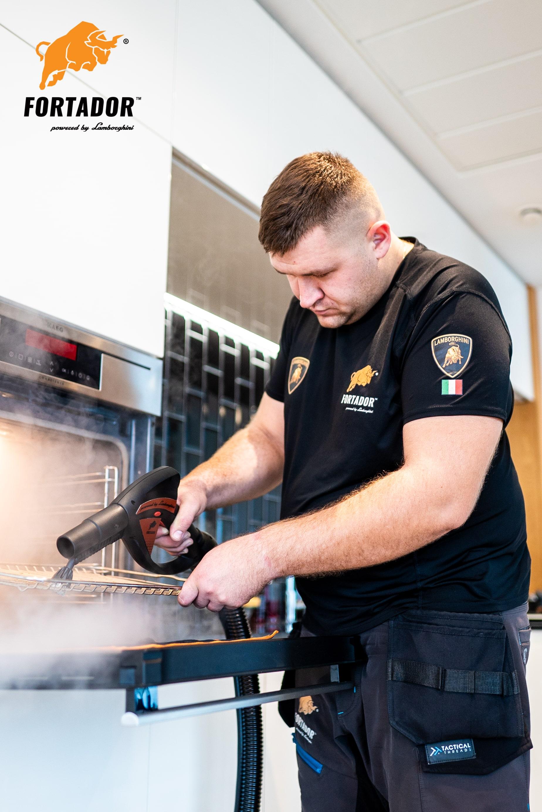 sanitization f kitchen sin with steamer