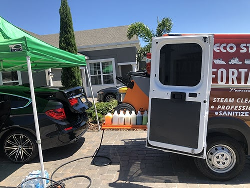 mobile car wash van