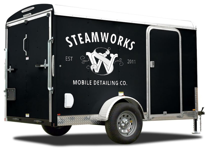 mobile steam car wash and auto detailing trailer