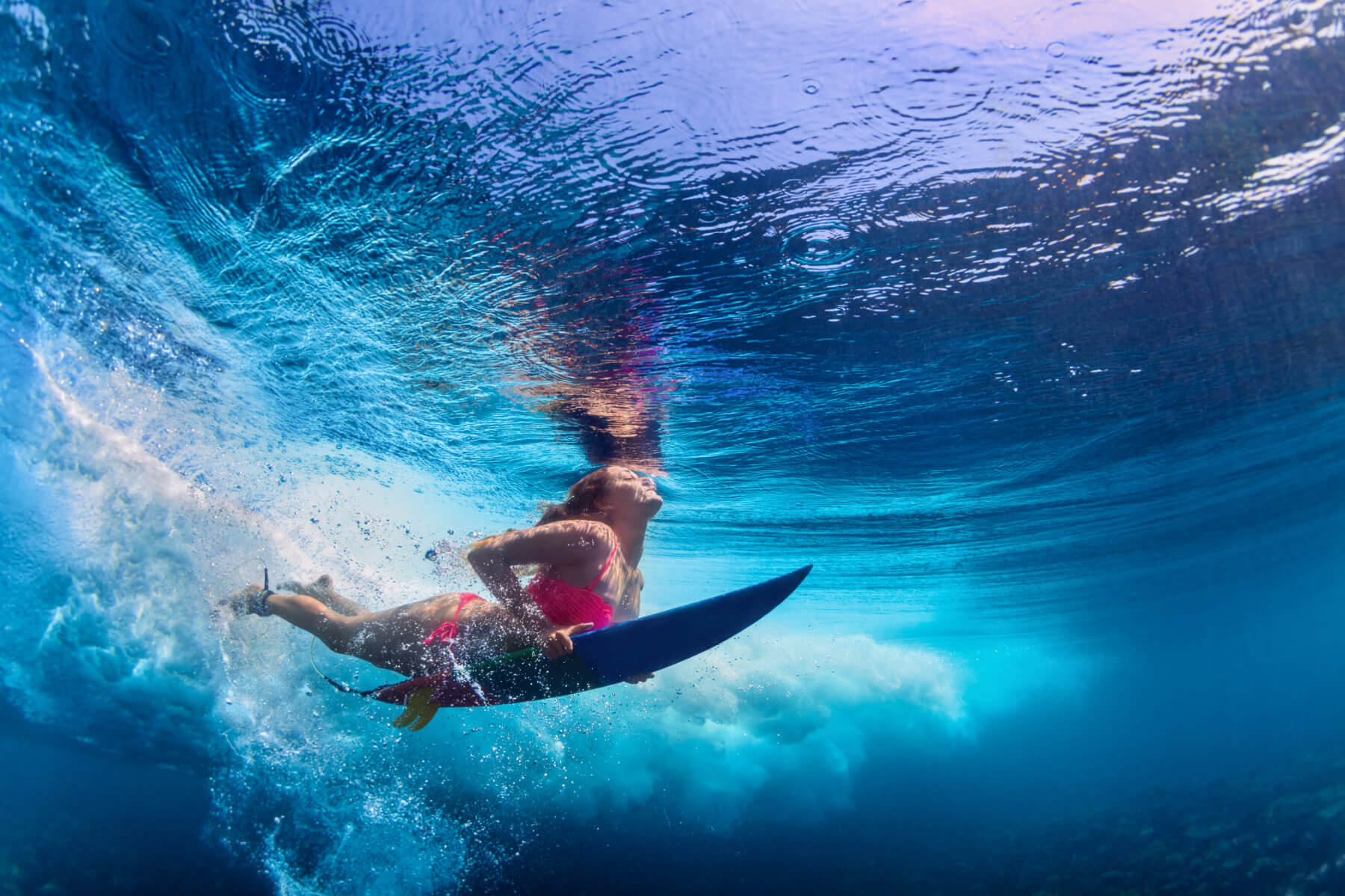 Girl Surfing Surfside Apartments
