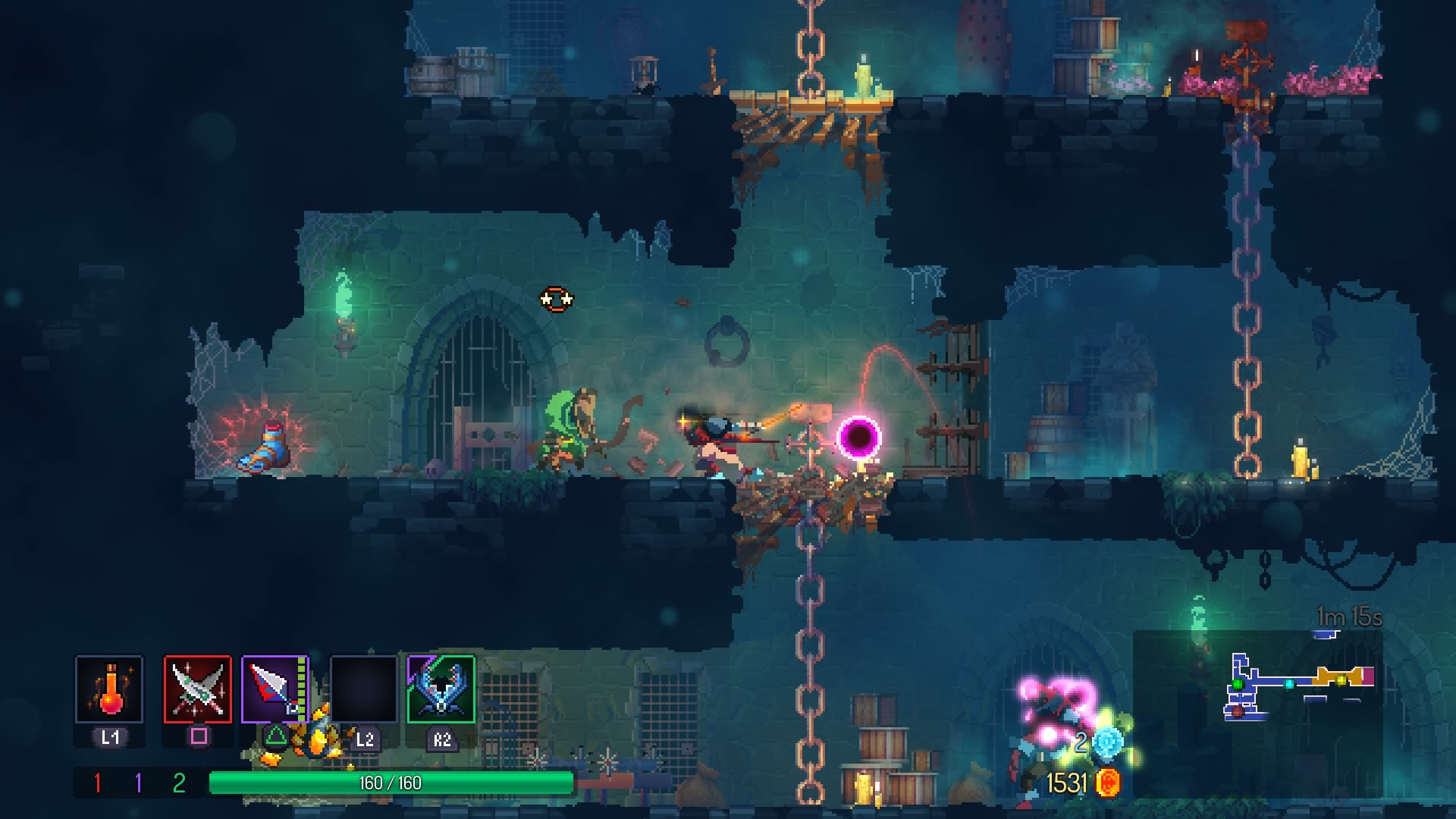 Dead Cells Review Jump Dash Roll