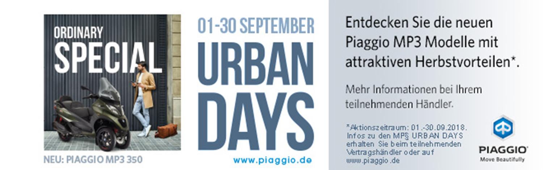 MP3 Urban Days - 01. bis 30. September 2018