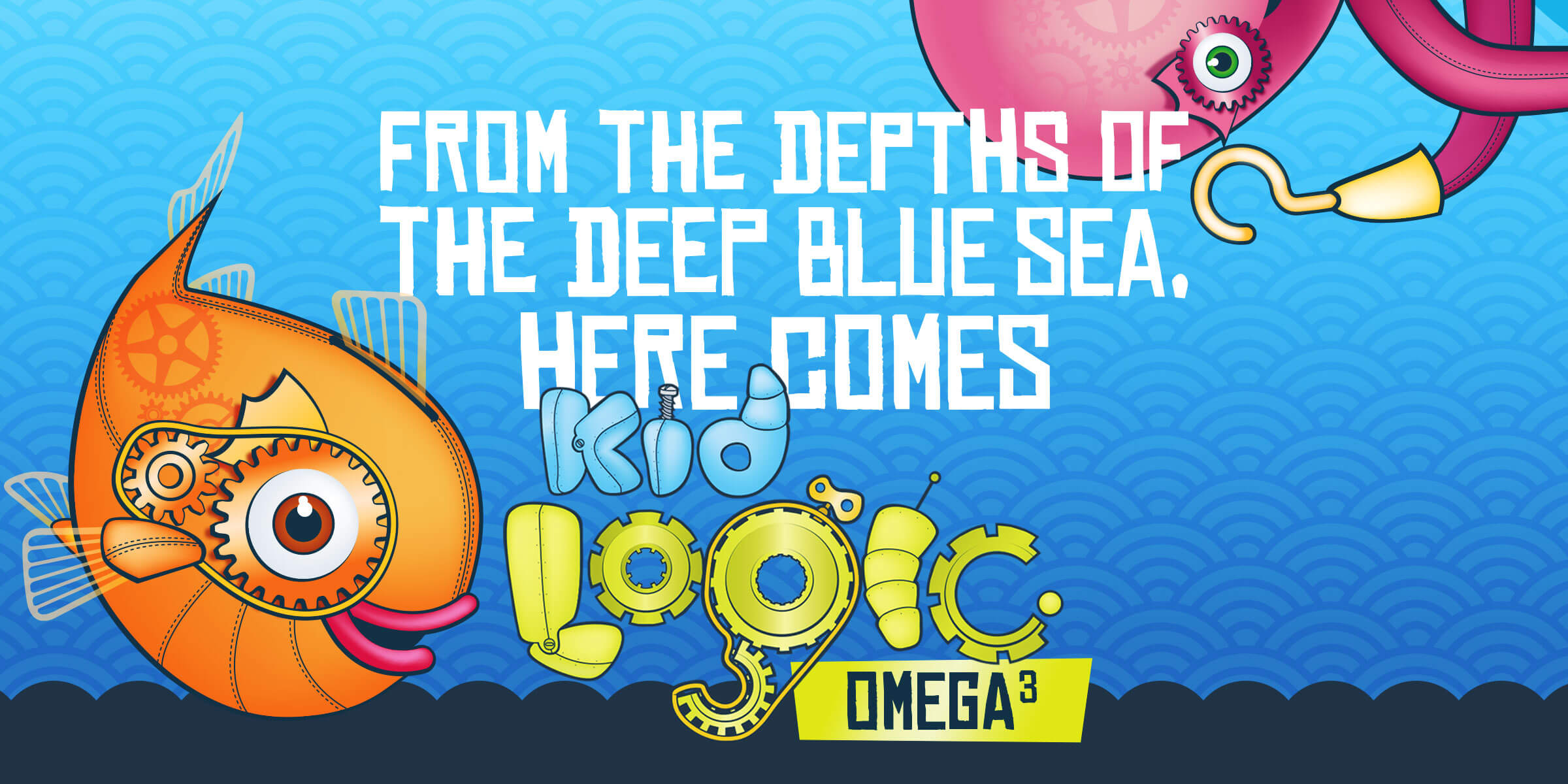 Creating a bright fun identity and packaging for chewable omega 3 product, Kid Logic