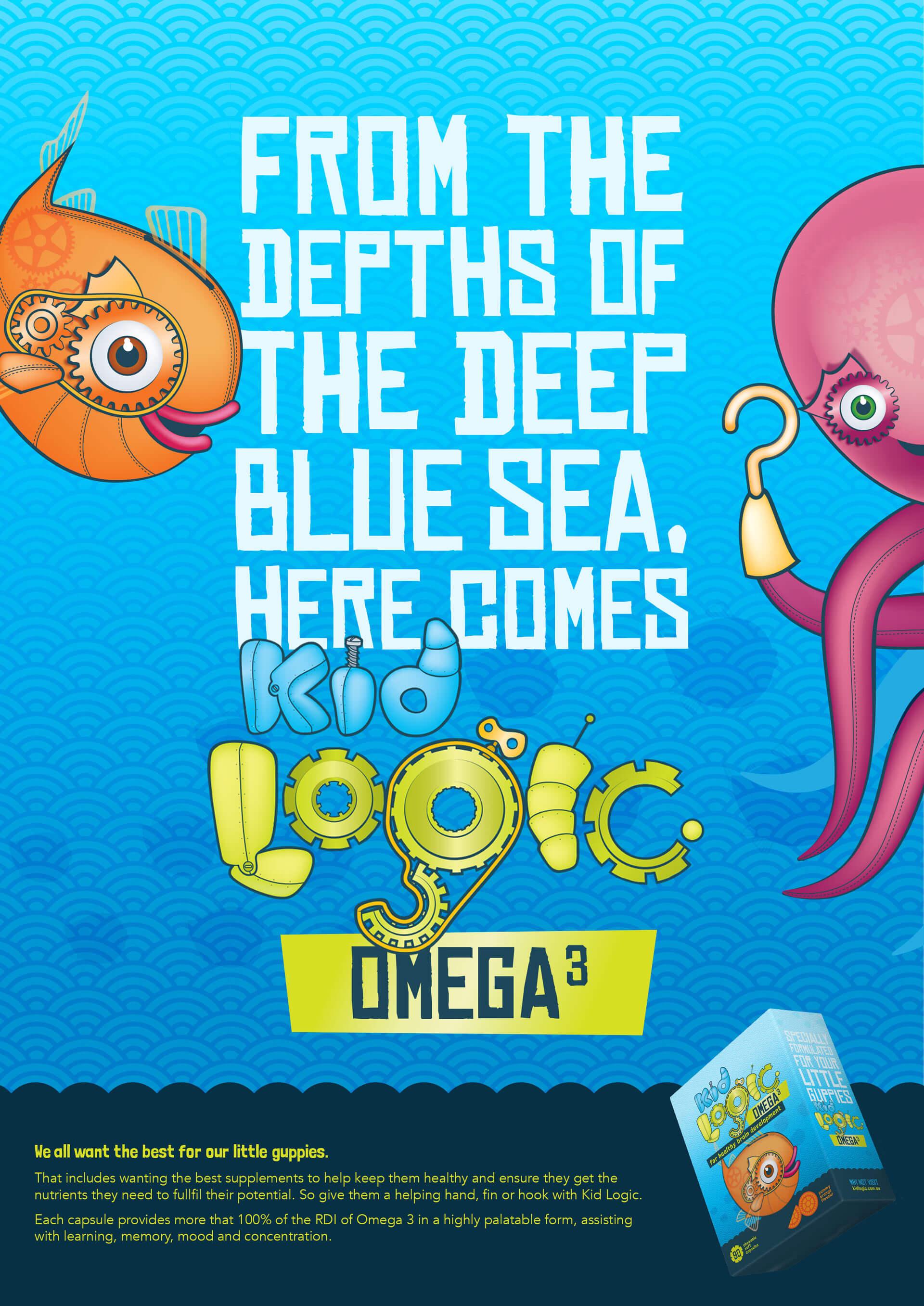 Kid Logic Omega 3 poster design