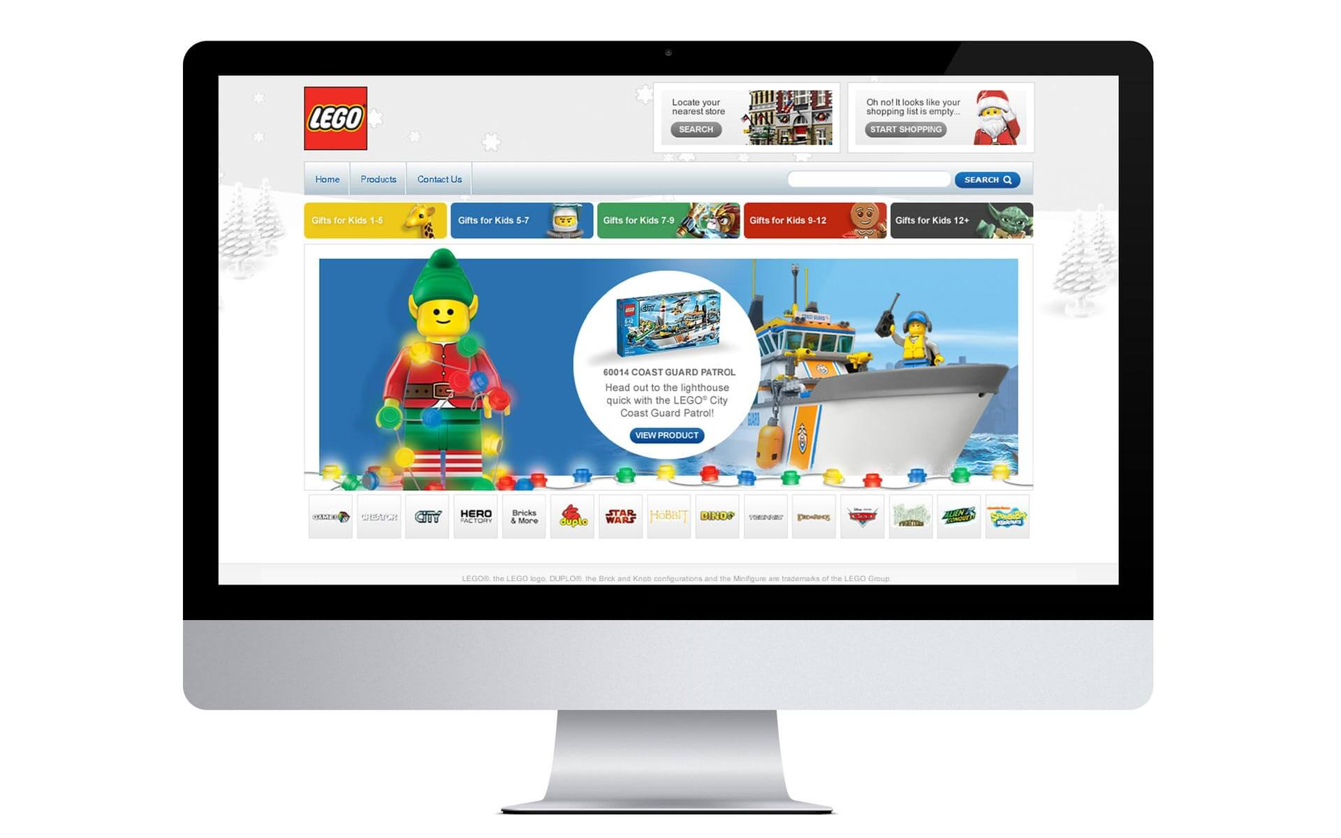 LEGO Christmas, microsite