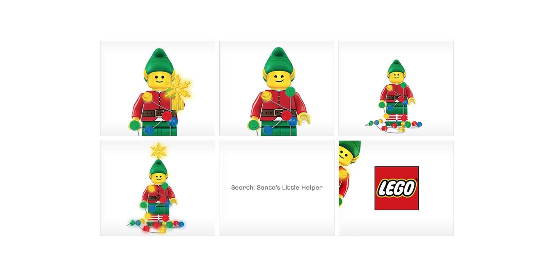 LEGO Christmas, banner ad design