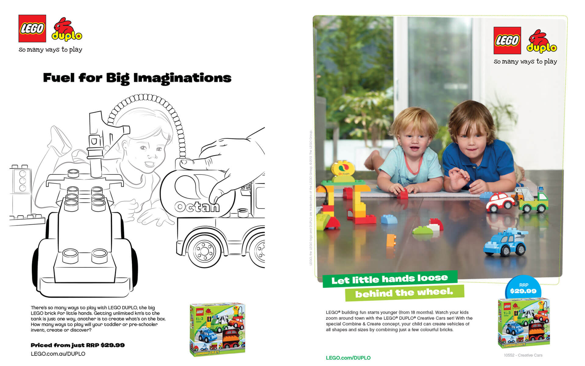 LEGO Duplo Let little hands loose behind the wheel, Ad scamp and final design