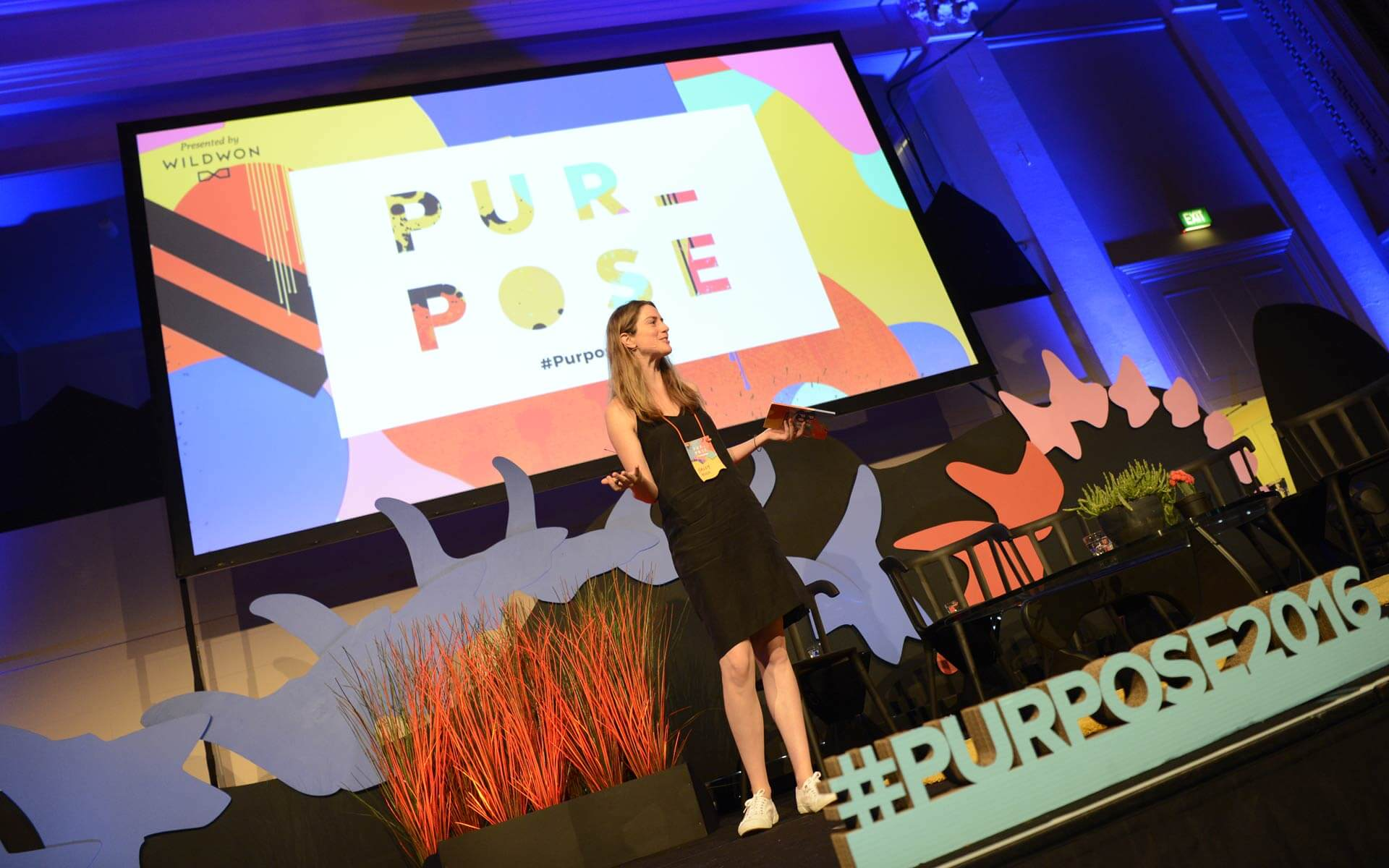 Sally Hill addressing the crowd at Purpose 2016