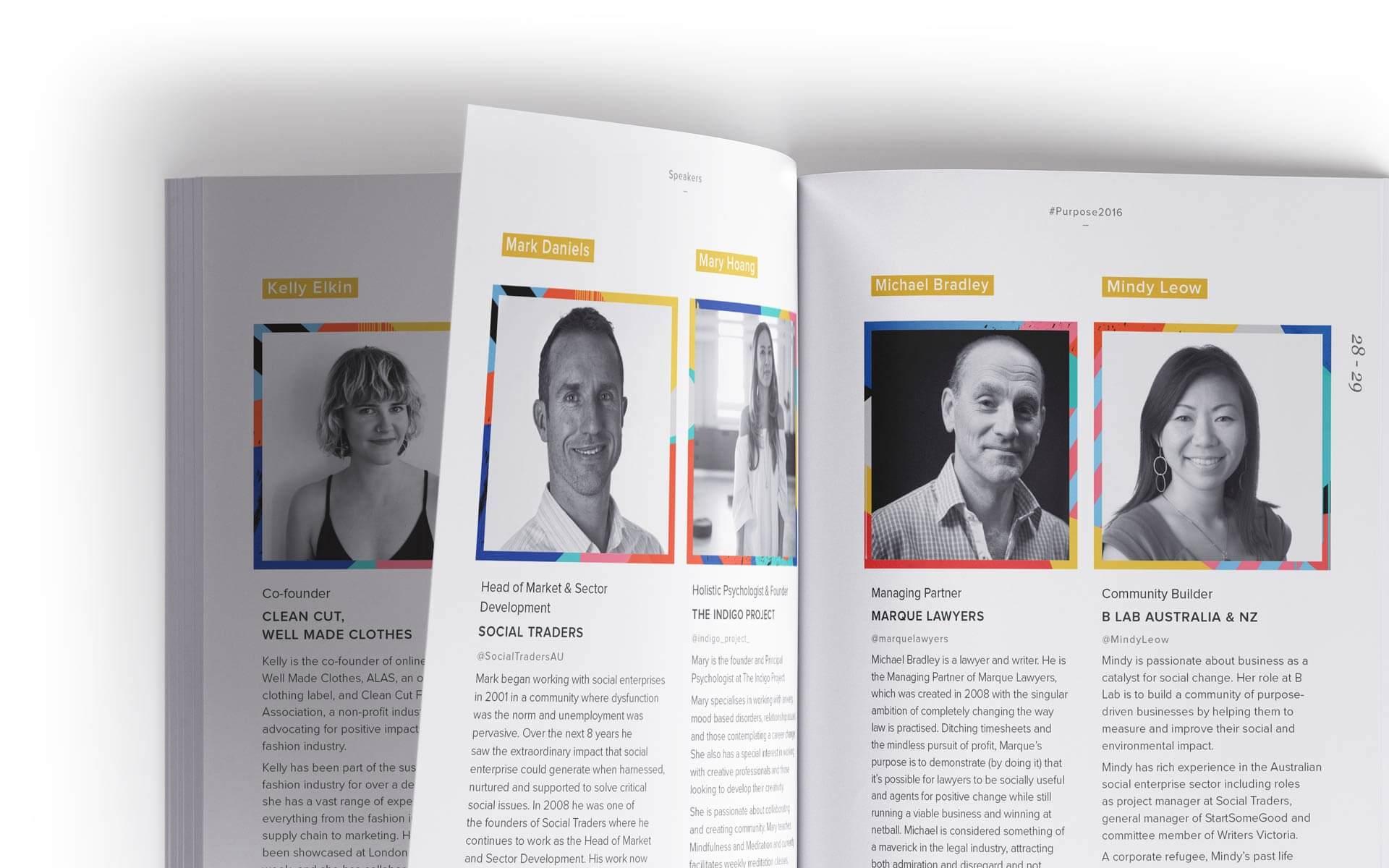 Purpose 2016 program speakers spreads