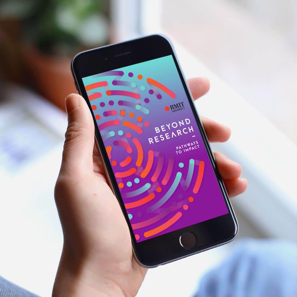 RMIT Beyond Research app design.