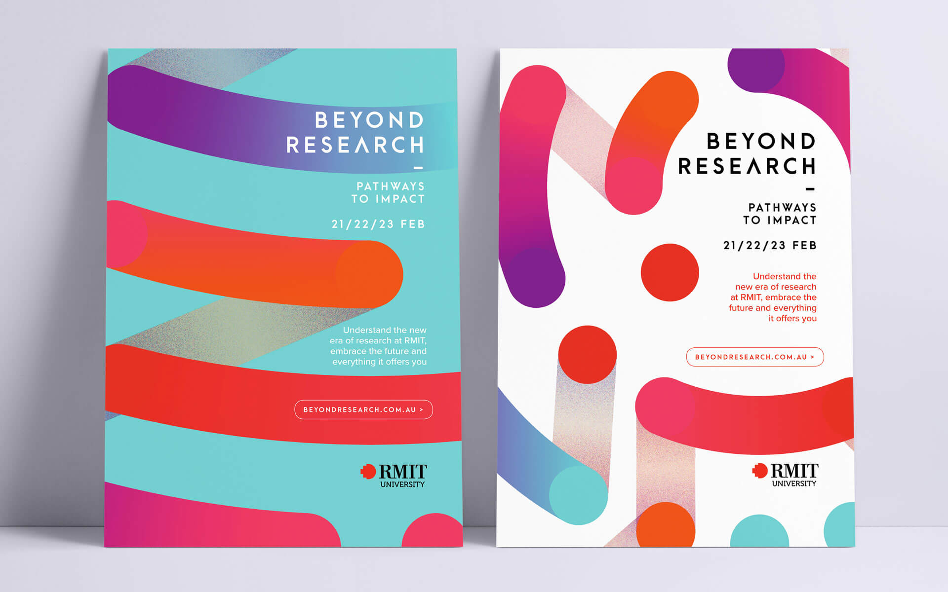 Beyond Research branding, poster designs