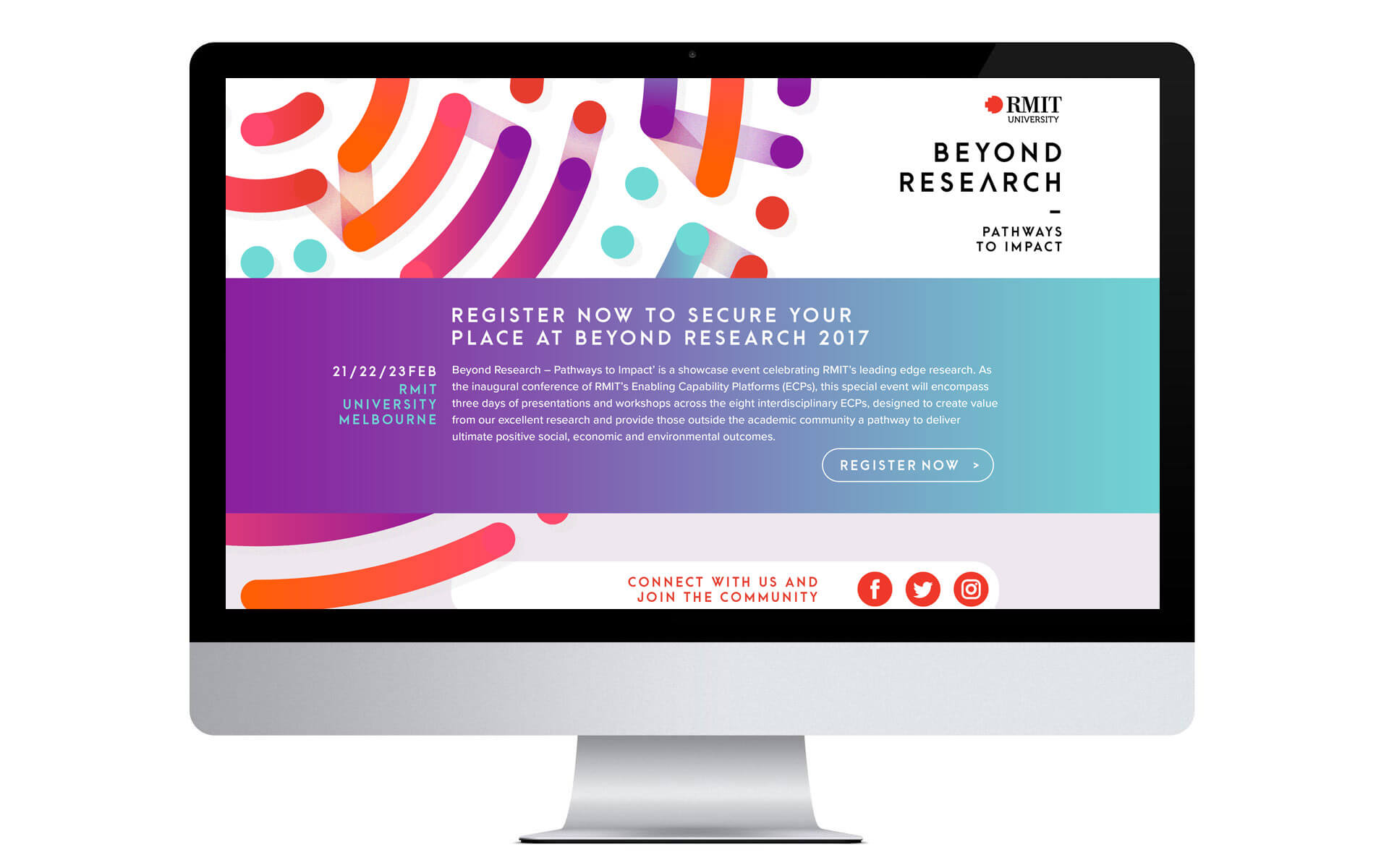 Beyond Research branding, microsite website design