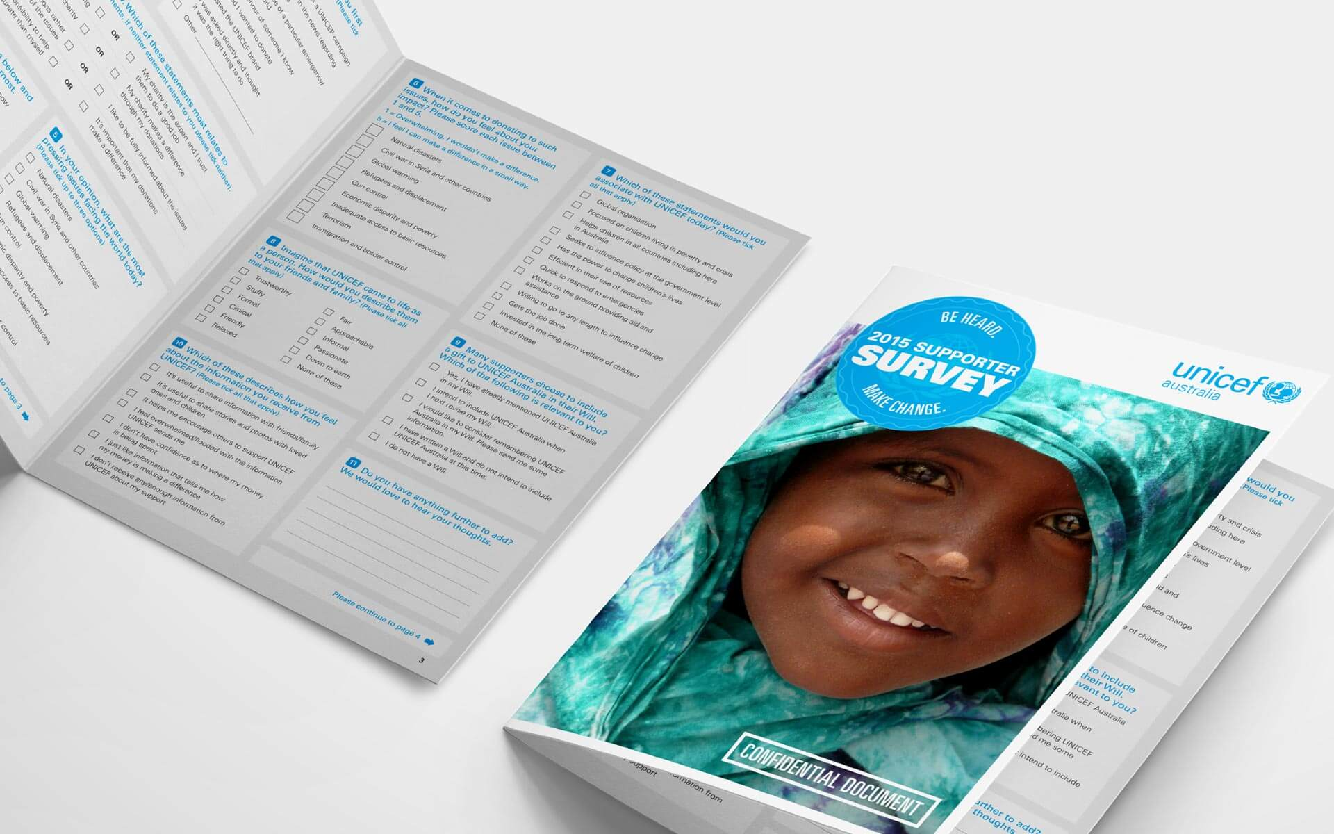 UNICEF supporter survey design