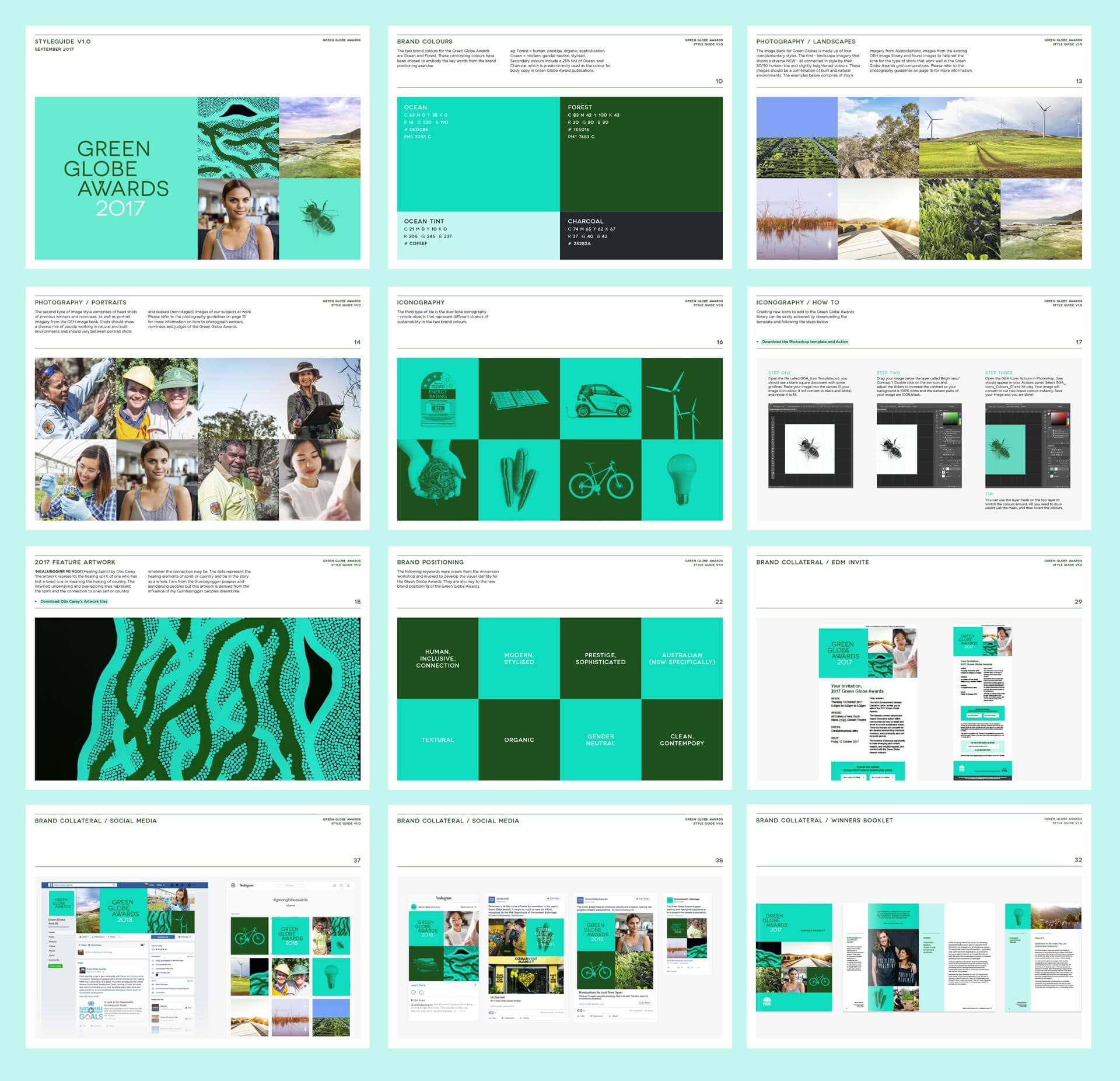 The Green Globe Awards rebrand style guide