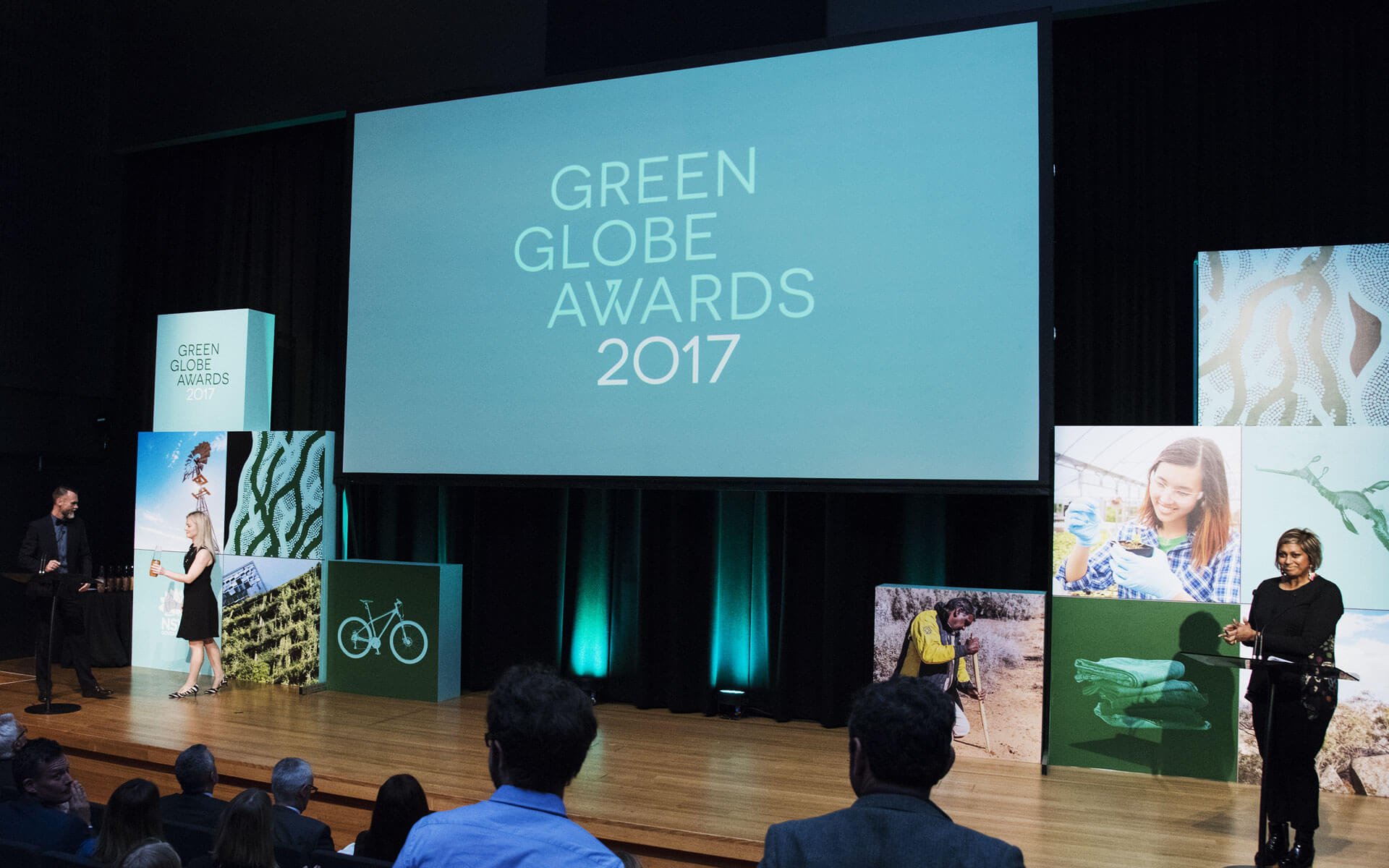 The Green Globe Awards rebrand, stage design