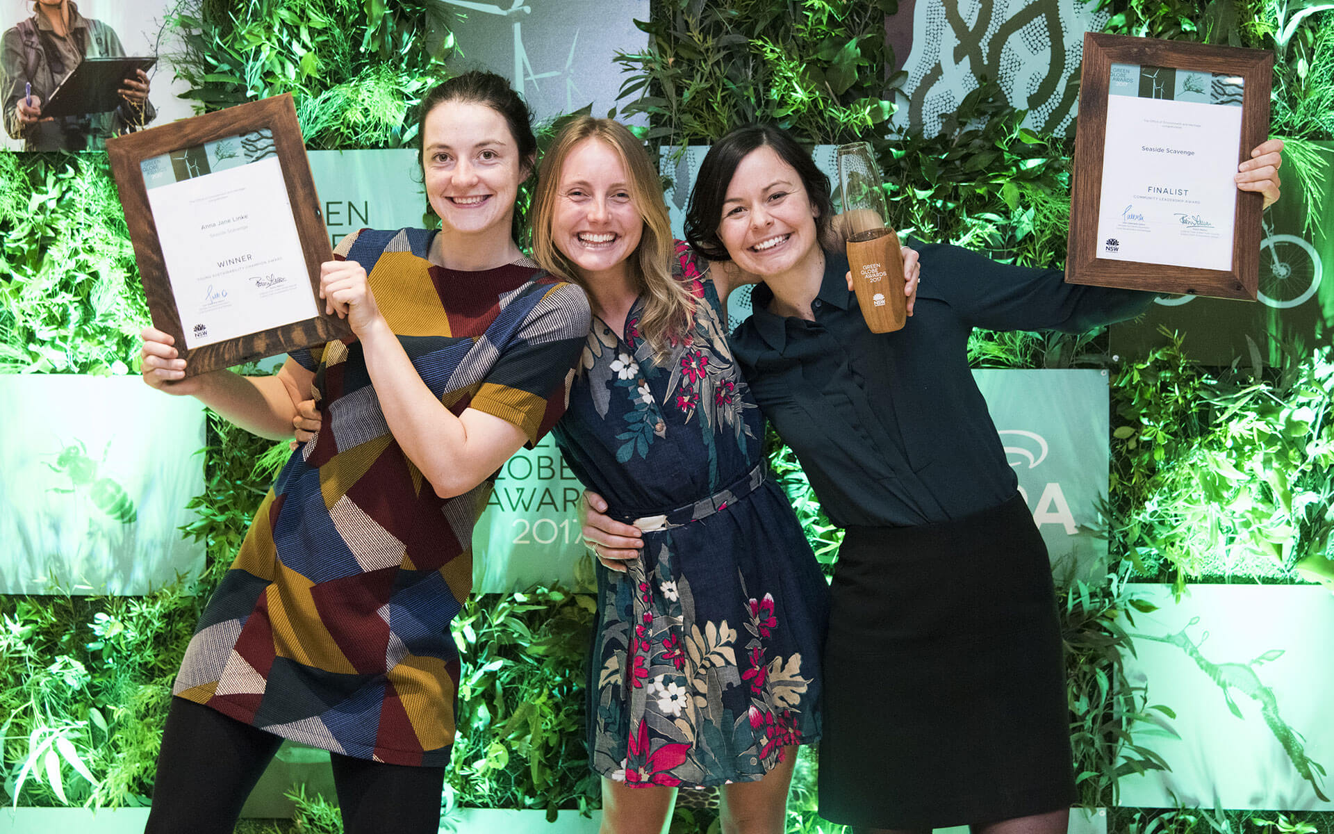 The Green Globe Awards rebrand, winners with media wall